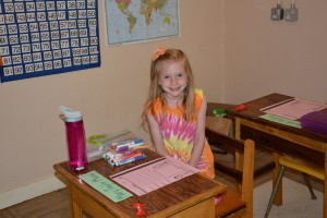 She is excited about 1st grade!